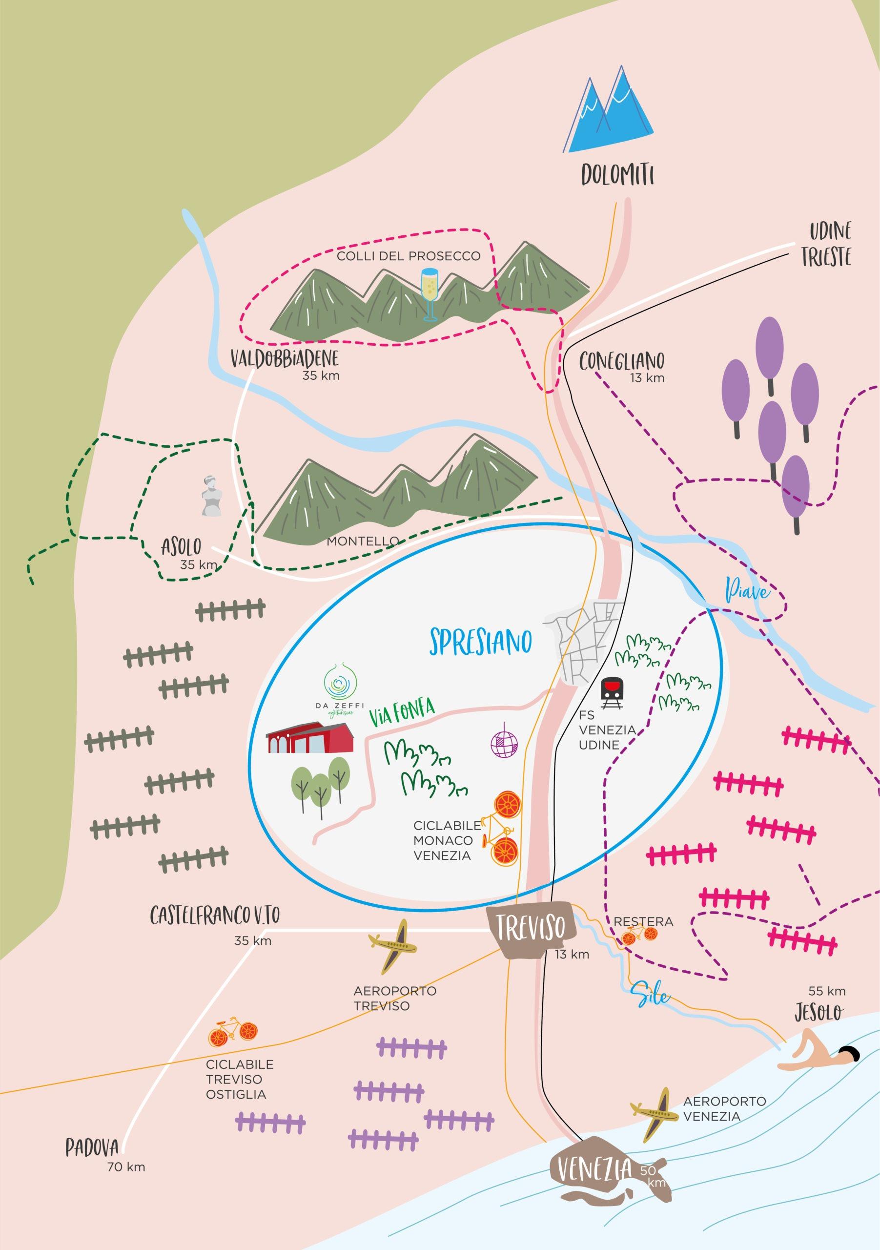 Mappa dei dintorni di Agriturismo da Zeffi