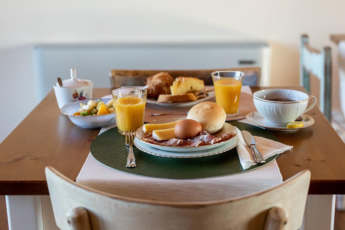 Prima colazione con prodotti dell'Agriturismo