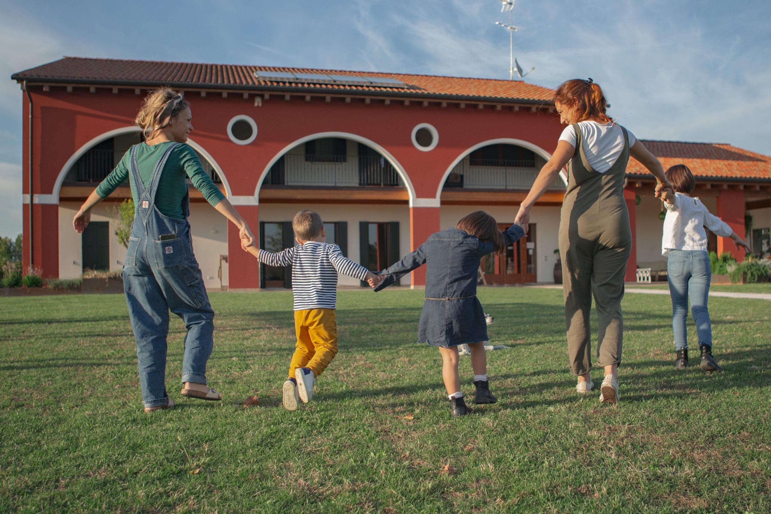 Area giochi esterna per bambini presso Agriturismo da Zeffi a Treviso